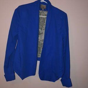 Aryn K cobalt blue open thin blazer size m